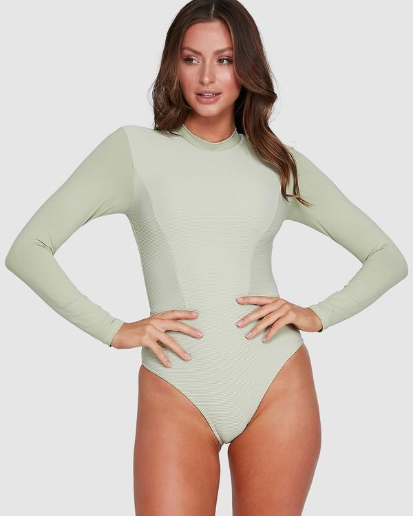 0 Marina Bodysuit Rash Vest Green 6703011 Billabong