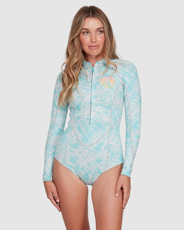 0 Salty Dayz Long Sleeve Springsuit Blue 6704502 Billabong