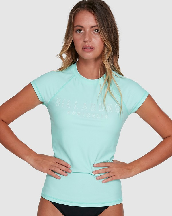 0 Mighty Fine Short Sleeve Rashie Blue 6781001 Billabong