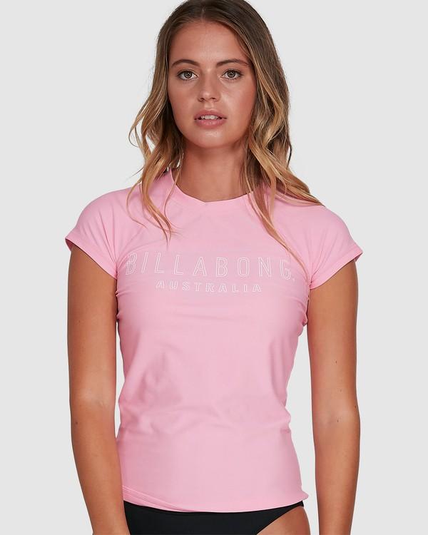 0 Mighty Fine Short Sleeve Rashie Pink 6781001 Billabong