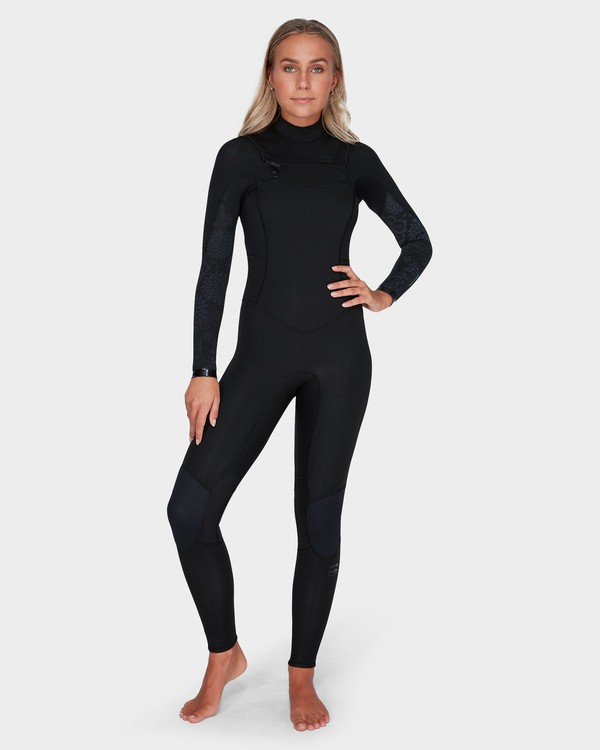 0 LADIES SYNERGY 302 CHEST ZIP FULL SUIT Black 6783818 Billabong