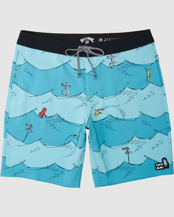 0 Dr. Seuss Kids One Fish Two Fish Boardshorts Blue 7503482 Billabong