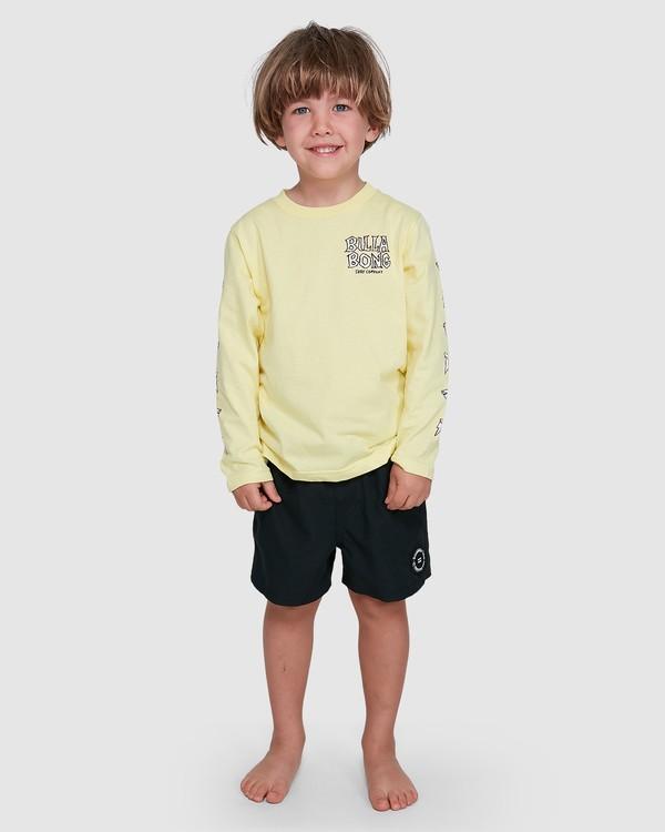 0 Groms Jaws Long Sleeve Yellow 7503710 Billabong