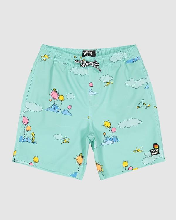 0 Dr. Seuss Lorax Sundays Layback Boardshorts Green 7508401 Billabong
