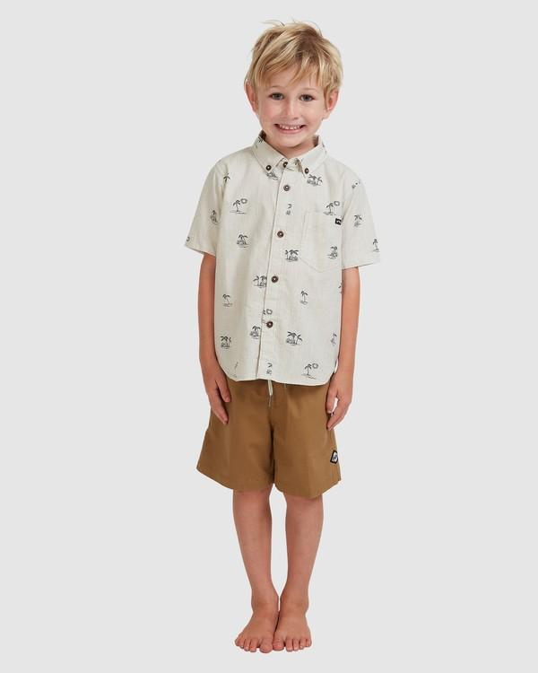 0 Boys' (2-7) Sundays Mini Short Sleeve Shirt Beige 7513210 Billabong