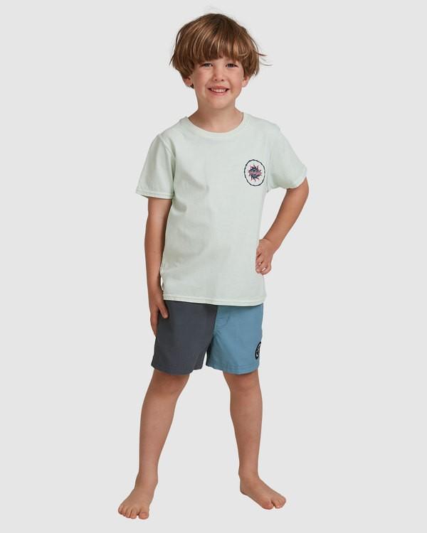 0 Groms Holey Moley Short Sleeve Tee Green 7517003 Billabong