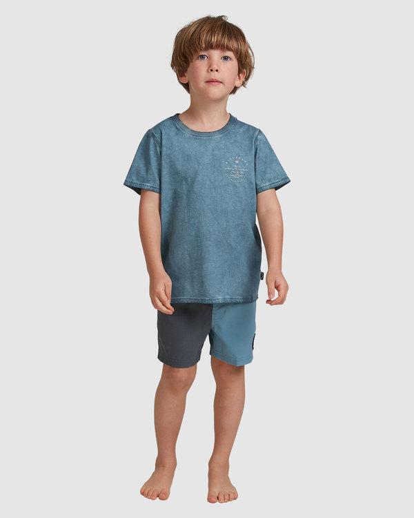 0 GROMS WAVY DAVY TEE Blue 7517008 Billabong