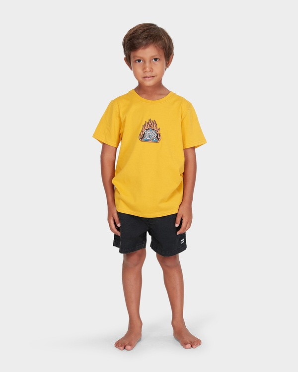 0 BOYS DUALITY TEE Yellow 7582002 Billabong