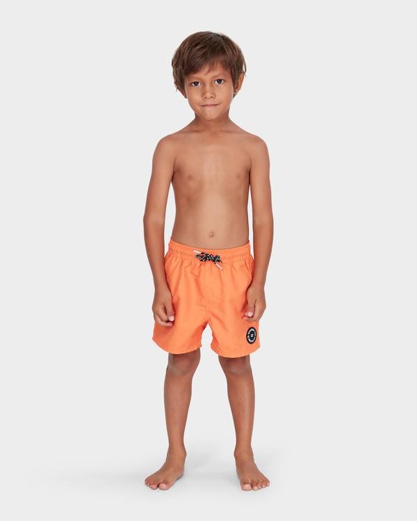 0 GROMS ALL DAY LAYBACK BOARDSHORTS Orange 7582402 Billabong