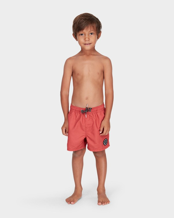 0 Groms All Day Layback Boardshorts Red 7582402 Billabong