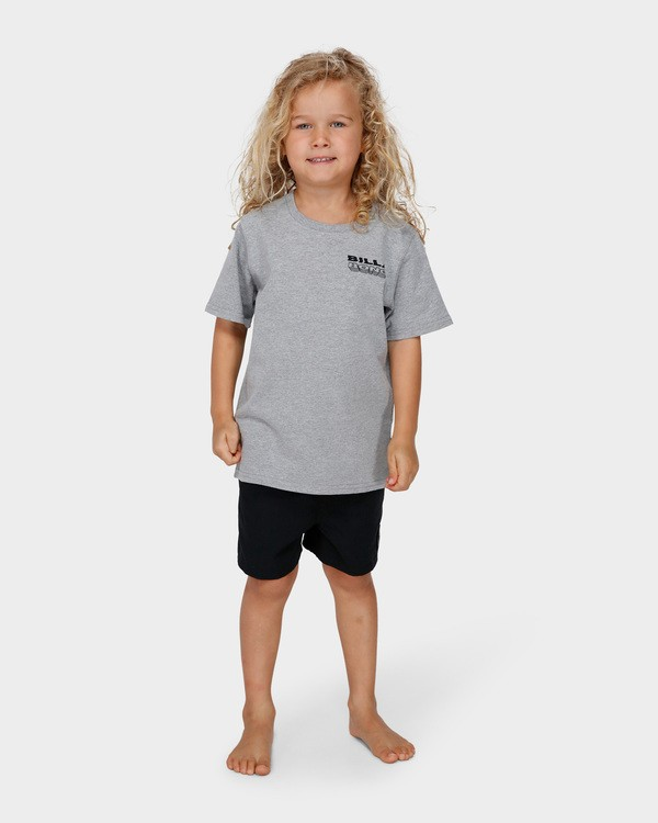 0 GROMS UNDER CUT TEE Grey 7591000 Billabong