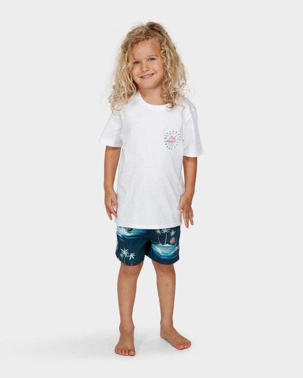 0 GROMS WHERE ITS FINE TEE White 7591001 Billabong
