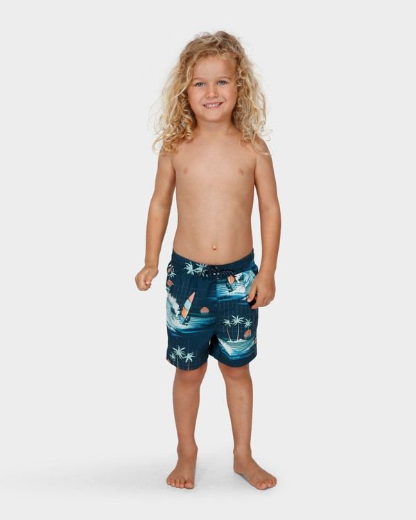 0 Groms Island Layback Blue 7591400 Billabong