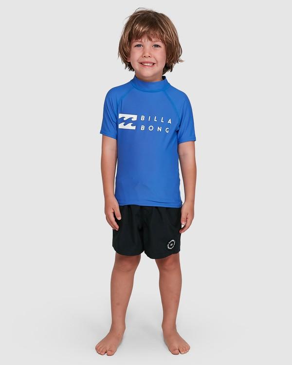 0 Boys 0-7 Union Regular Fit Rash Vest Blue 7703000 Billabong