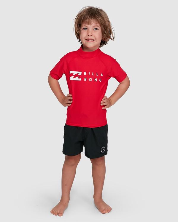 0 Groms Union Regular Fit Short Sleeve Rash Vest Red 7703000 Billabong
