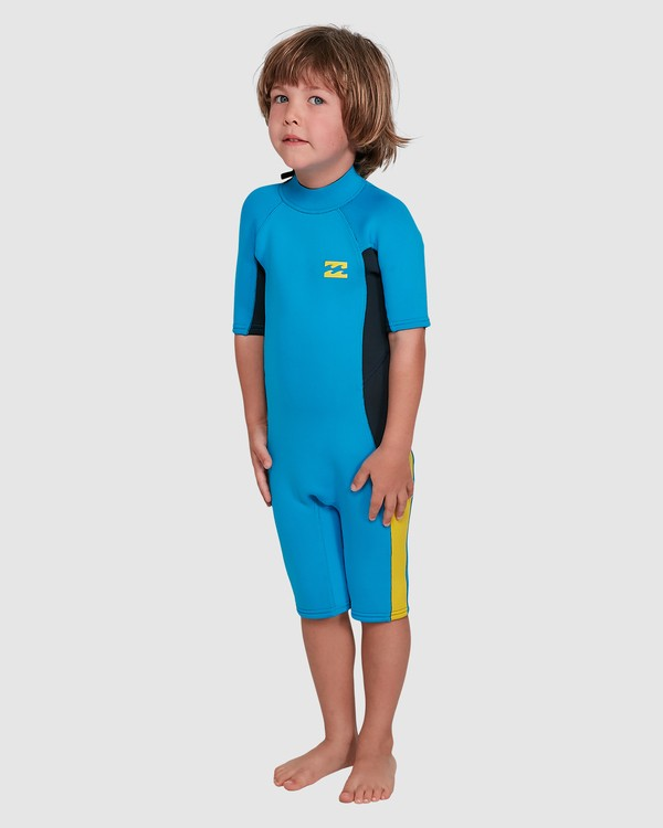 0 Toddler 2/2 Absolute Flatlock Back Zip Short Sleeve Springsuit Blue 7703400 Billabong