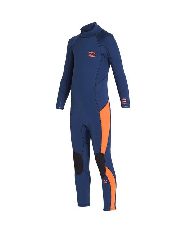 0 Toddler 3/2 Absolute Flatlock Back Zip Fullsuit Blue 7707700 Billabong