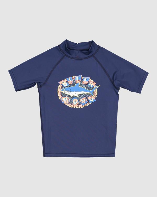 0 Boys 0-7 Sharky Regular Fit Rash Vest Blue 7713002 Billabong