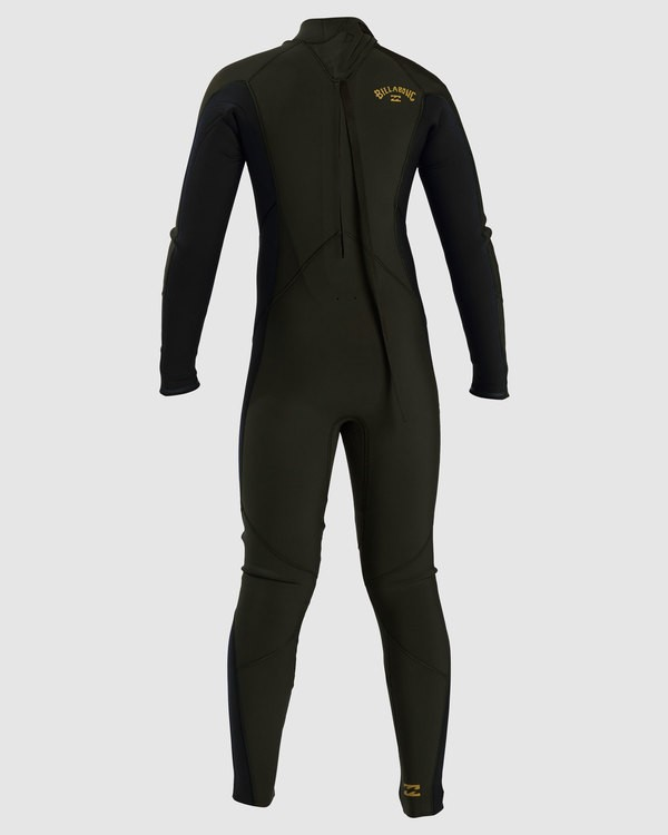 0 Boys 3/2 Absolute Flatlock Back Zip Fullsuit Green 7717700 Billabong