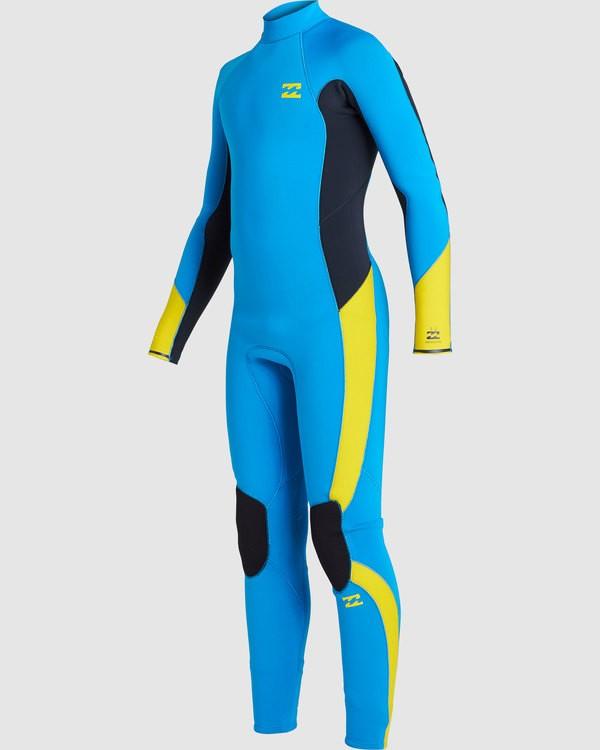 0 Boys 3/2 Absolute Back Zip Long Sleeve Gbs Fullsuit Blue 7717810 Billabong