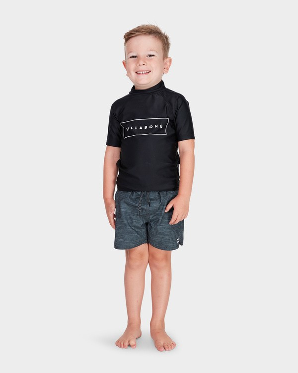 0 BOYS ALL DAY UNITED SHORT SLEEVE RASH VEST Black 7781001 Billabong