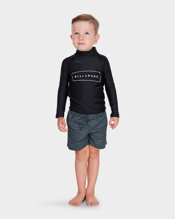 0 BOYS ALL DAY UNITED LONG SLEEVE RASH VEST Black 7781007 Billabong