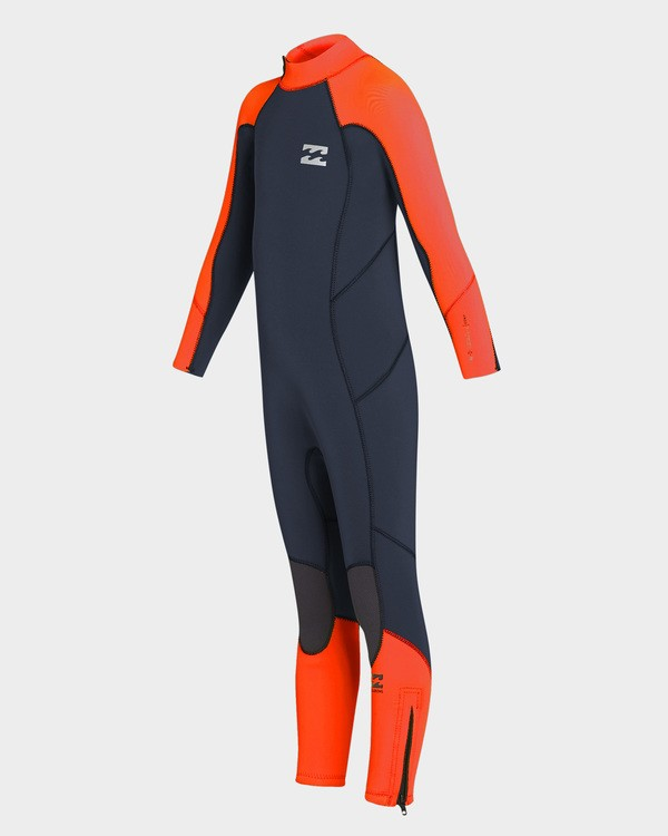 0 Boys Absolute Back Zip Full Suit Red 7793700 Billabong