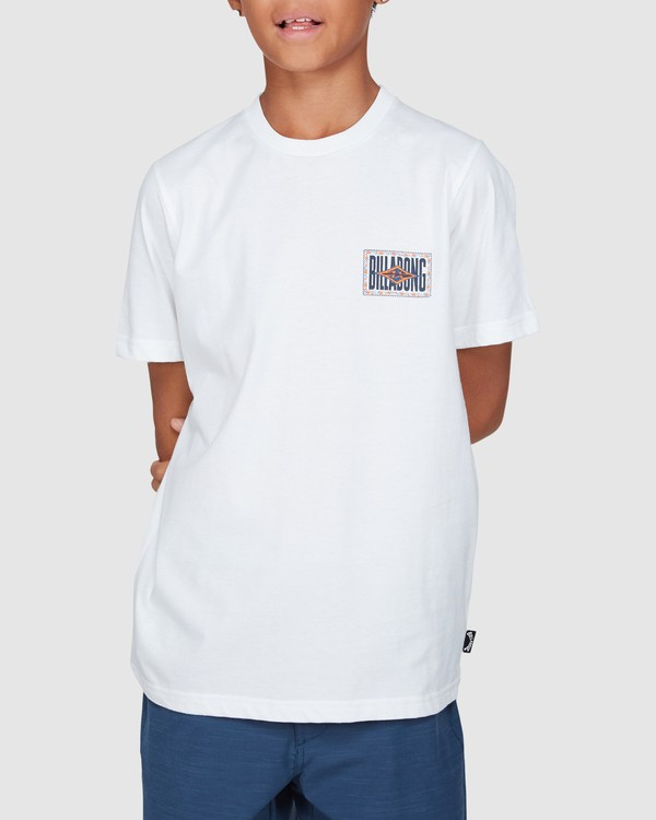 0 Boys Shadows Short Sleeve Tee White 8503034 Billabong