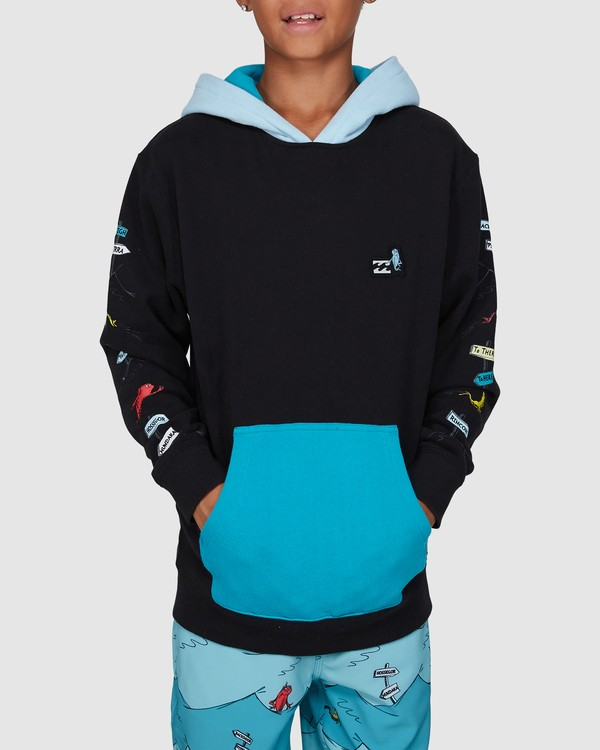 0 Dr. Seuss Boys One Fish Two Fish Pullover Black 8503680 Billabong