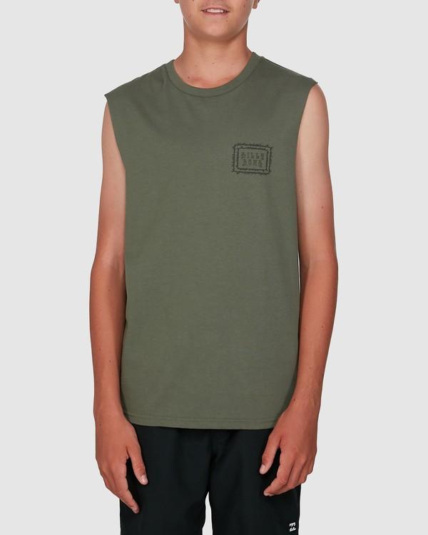 0 Boys Holy Smokes Muscle Tank Green 8504509 Billabong