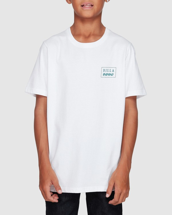 0 Boys Bong Cut Tee White 8507000 Billabong