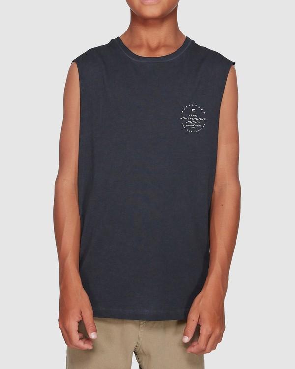 0 Boys Wavy Davy Muscle Tank Black 8507501 Billabong