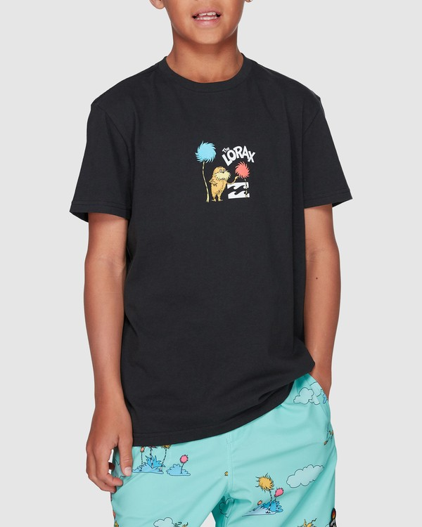 0 Dr. Seuss Speak For The Trees Short Sleeve Tee Black 8508001 Billabong