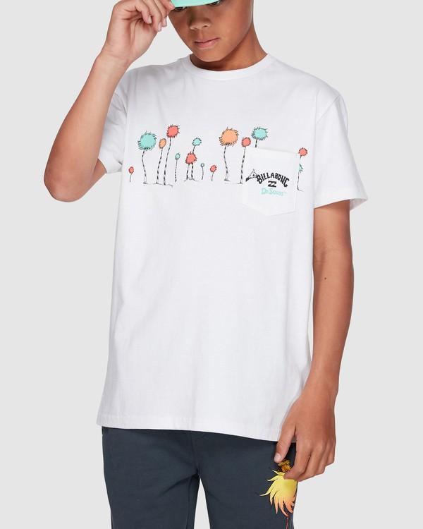 0 Dr. Seuss Truffula Short Sleeve Tee White 8508002 Billabong
