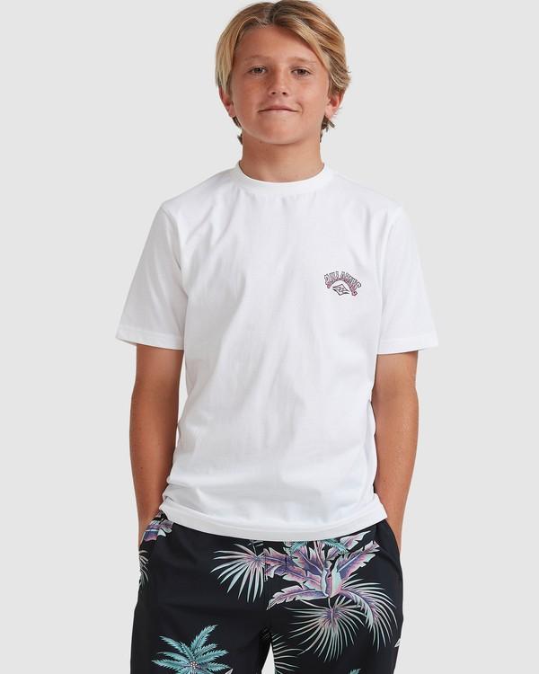 0 Boys 8-16 Tiger Waves Short Sleeve Tee White 8513014 Billabong