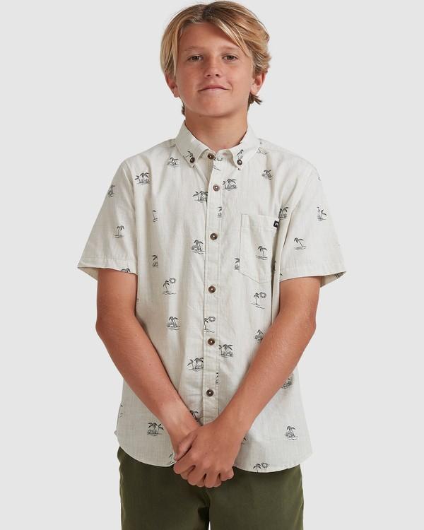 0 Boys 8-16 Sundays Mini Short Sleeve Shirt Beige 8513210 Billabong