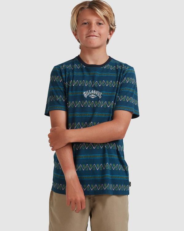 0 Boys 8-16 Full Rack Short Sleeve Tee Blue 8517003 Billabong