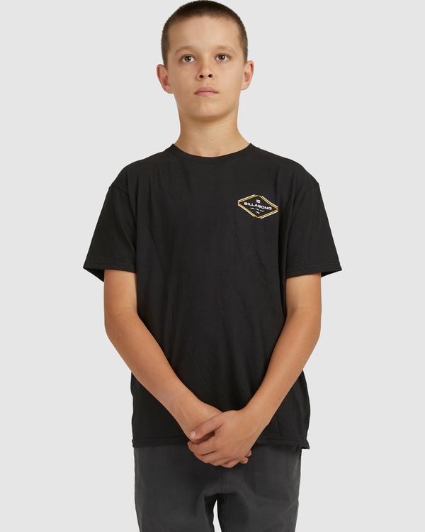 0 Boys 8-16 Access Boarder Short Sleeve Black 8517024 Billabong