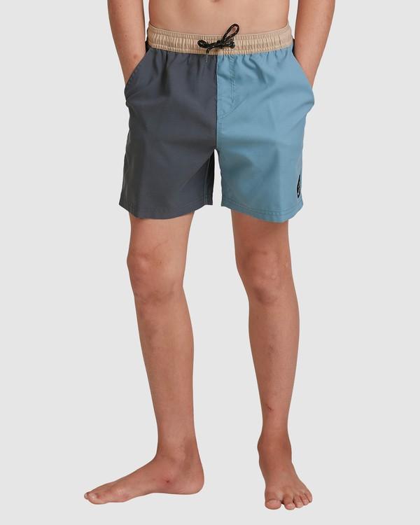 0 Boys Interchange Layback Boardshorts Grey 8517435 Billabong
