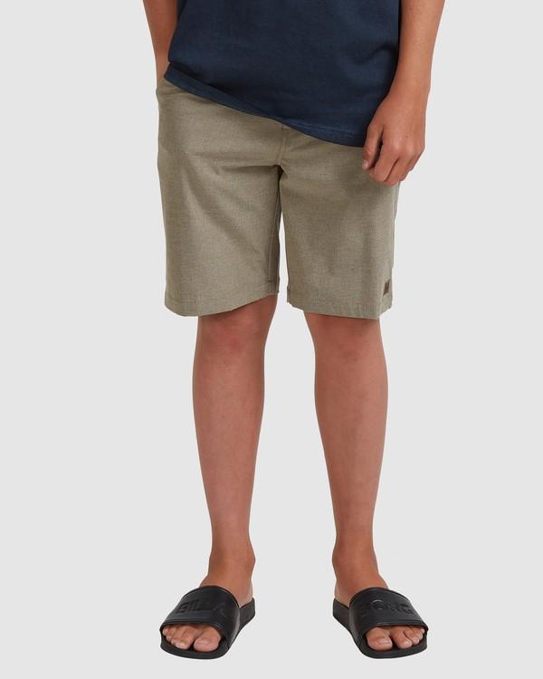 0 Boys 8-16 Crossfire Shorts Green 8518700 Billabong