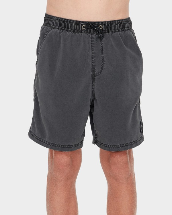 0 Boys All Day Overdye Layback Boardshorts Black 8572439 Billabong