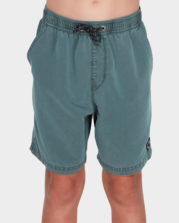 0 Boys All Day Overdye Layback Boardshorts Green 8572439 Billabong