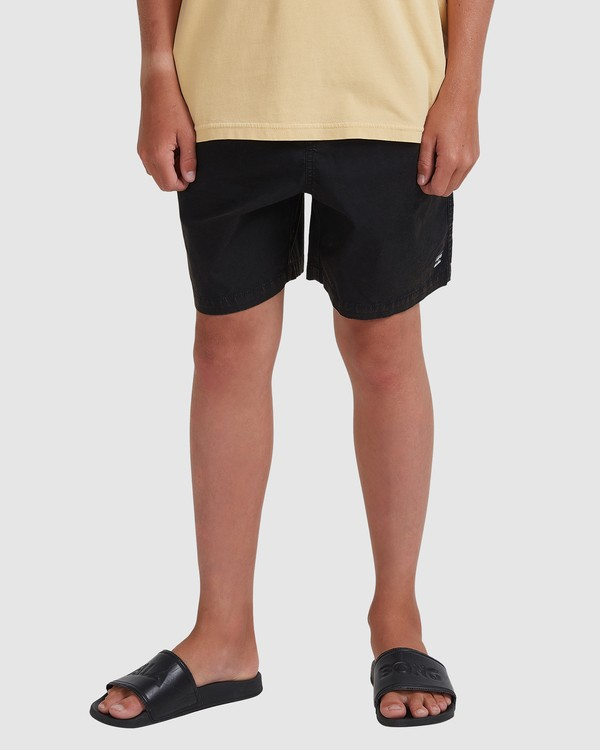 0 Boys 8-16 Mario Stretch Elastic Shorts Black 8572716 Billabong