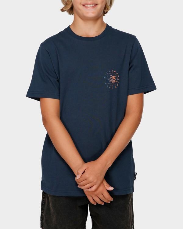 0 BOYS WHERE IT'S FINE TEE Blue 8591008 Billabong