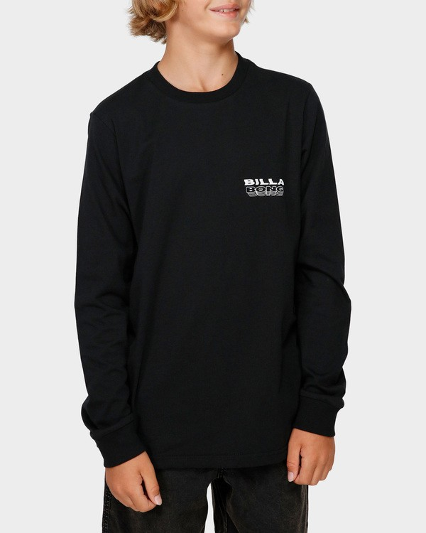 0 Boys Undercut Long Sleeve Tee Black 8591174 Billabong