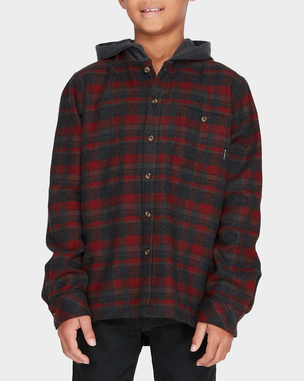 0 TEEN BAJA FLANNEL SHIRT Red 8595211 Billabong