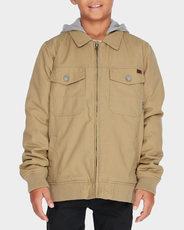 0 Teen Barlow Twill Jacket Pink 8595910 Billabong