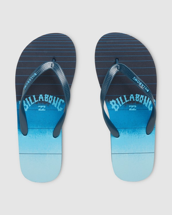 0 Boys 73 Stripe Thongs Blue 8607946 Billabong