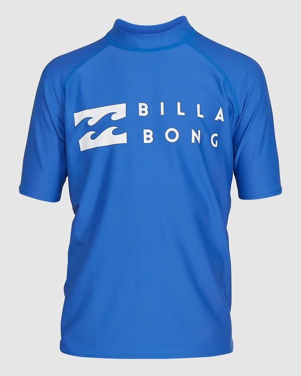 0 Boys Union Regular Fit Short Sleeve Rash Vest Blue 8703000 Billabong
