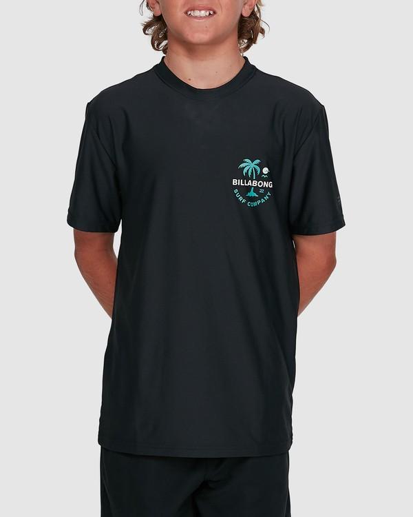 0 Boys Vacation Loose Fit Short Sleeve Rashie Black 8703002 Billabong